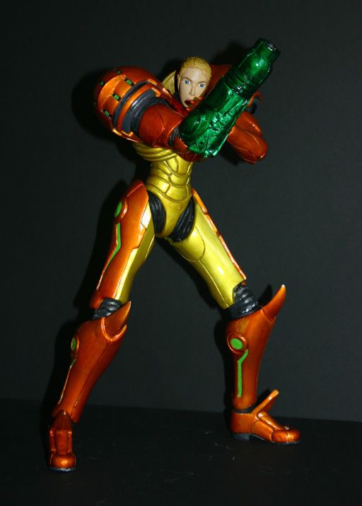 Samus Aran Custom Action Figure By Justin Ton Fan Art