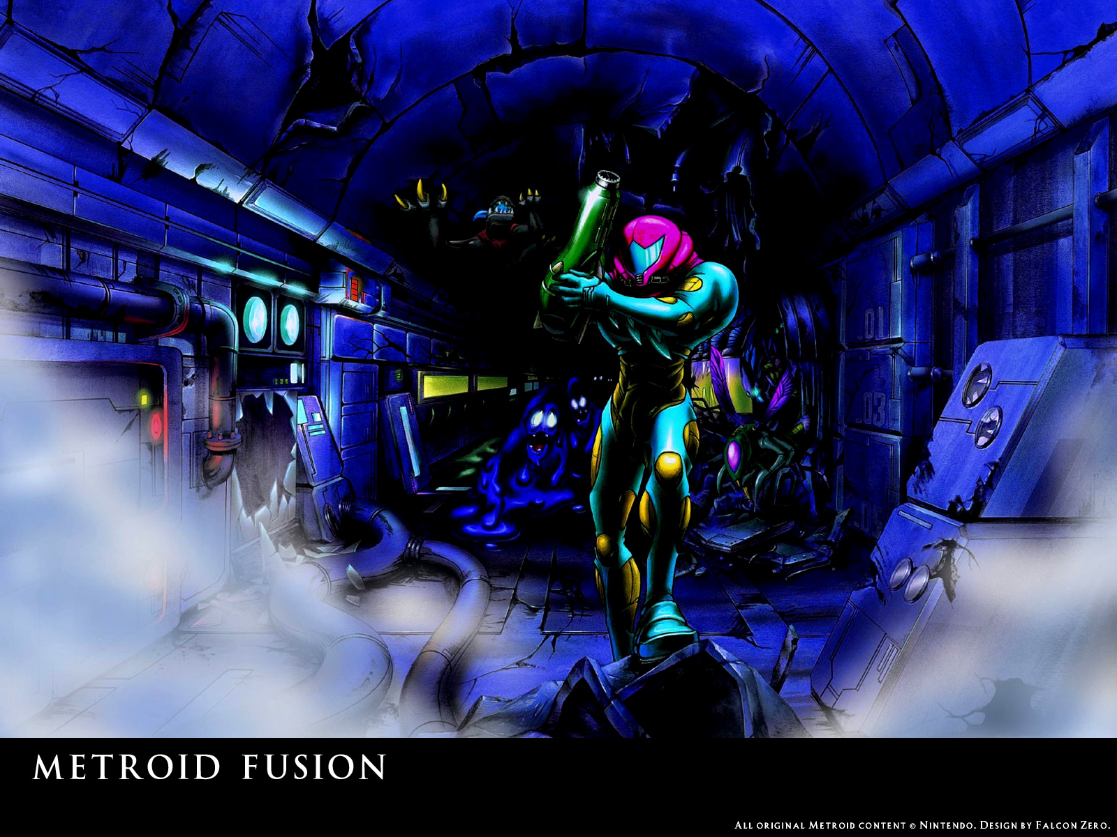wallpaper - fan creations (metroid recon)
