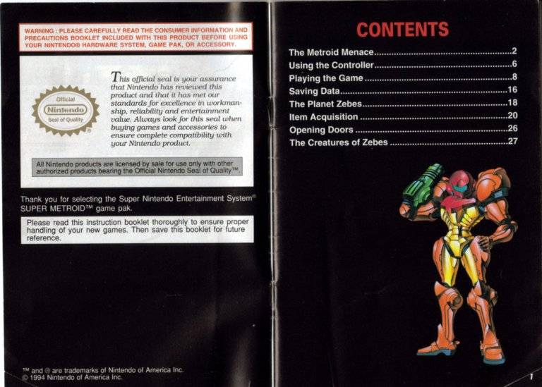super metroid instruction manual image gallery metroid recon rh metroid retropixel net super metroid instruction manual pdf super metroid game manual