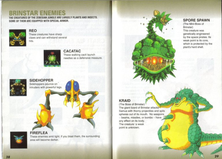 Super Metroid instruction manual