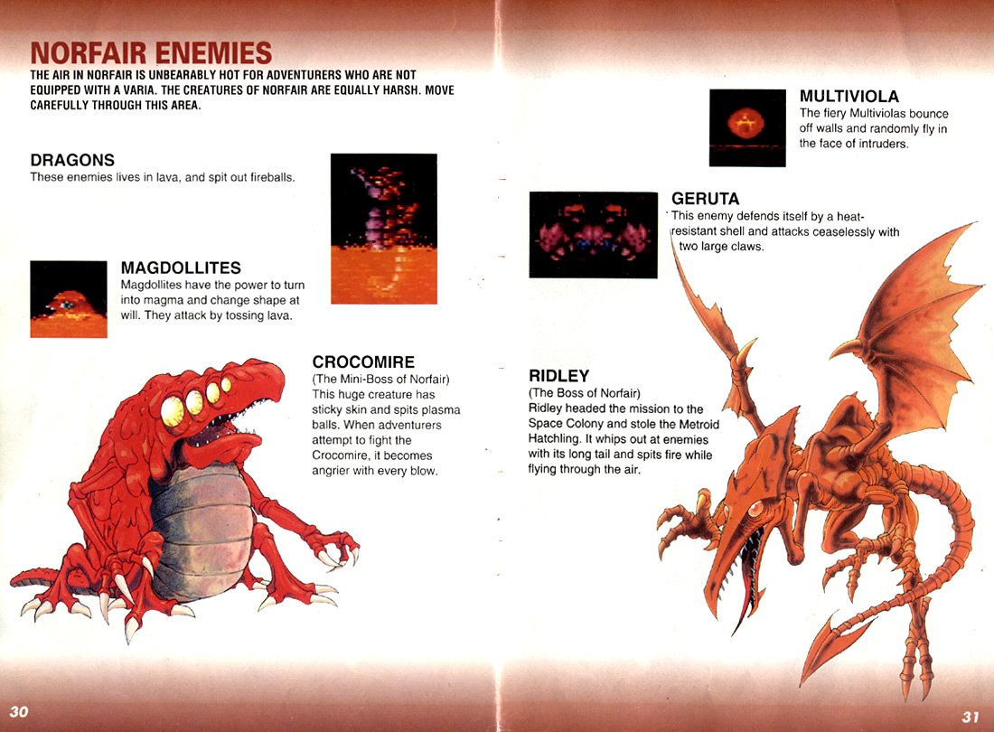 Super Metroid instruction manual (PAL)