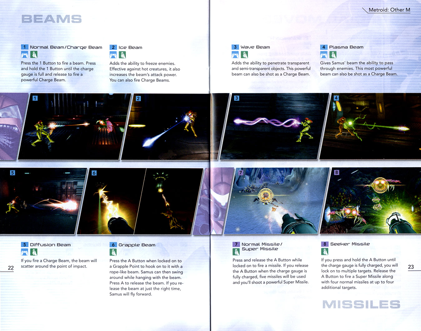 Metroid: Other M instruction manual