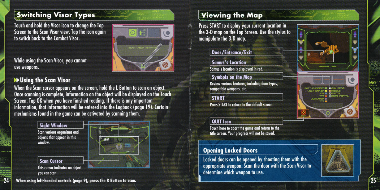Metroid Prime Hunters instruction manual