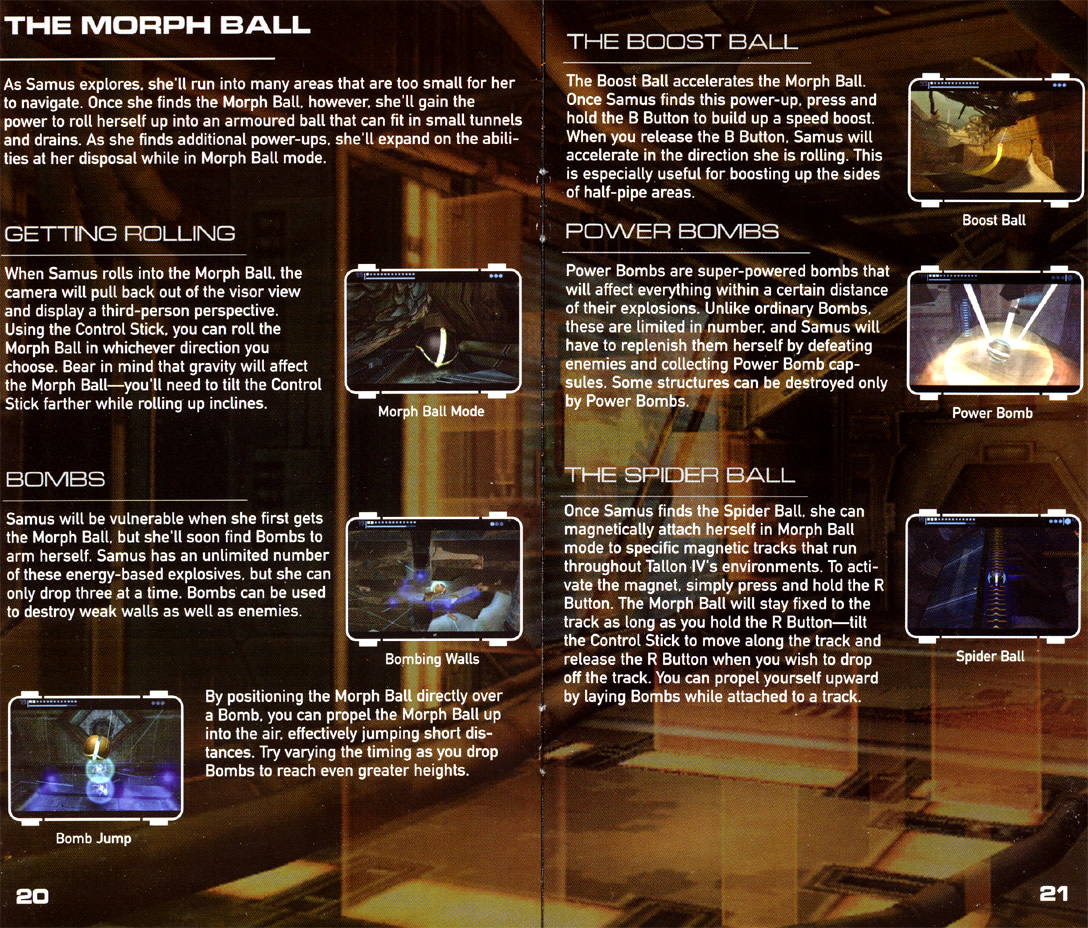 Metroid Prime instruction manual
