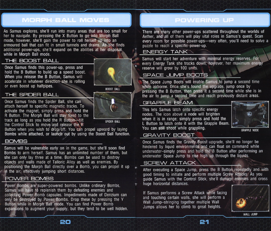 Metroid Prime 2: Echoes instruction manual