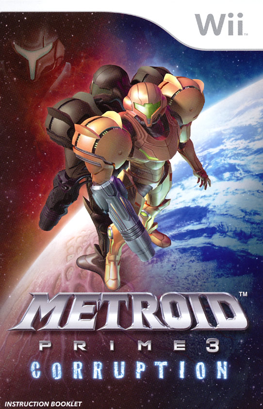 Metroid Prime 3: Corruption instruction manual