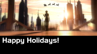 Happy Holidays! Looks like Santa is still around in Samus' era...