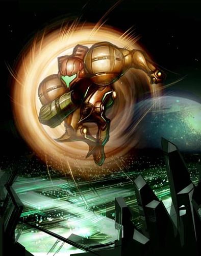 Concept Artwork Metroid Prime 2 Echoes Metroid Recon